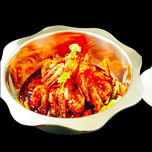 左鱼右虾火锅-香辣虾锅