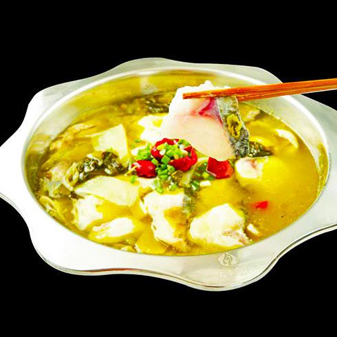 左鱼右虾火锅-酸菜鱼锅