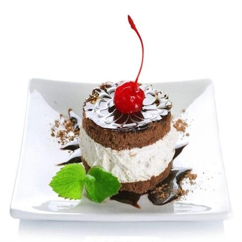 卡方汉堡西式快餐-奶油巧克力蛋糕