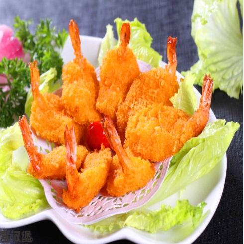 卡方汉堡西式快餐-蝴蝶虾