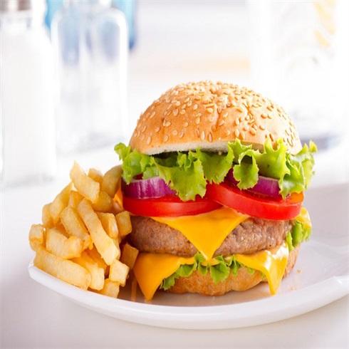 卡方汉堡西式快餐-鸡肉芝士汉堡