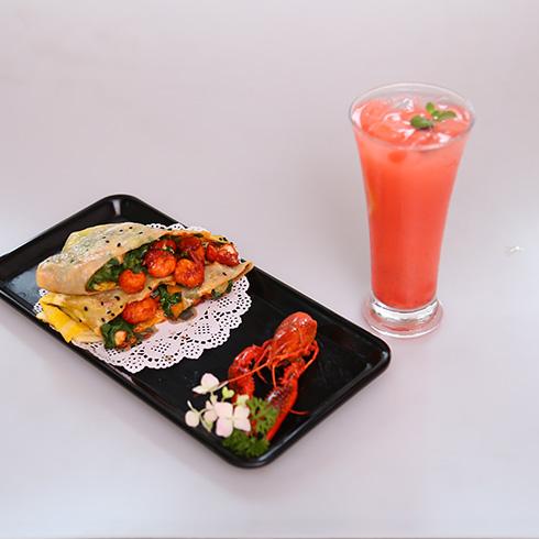 煎螯小龙虾煎饼-麻辣小龙虾煎饼