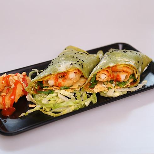 煎螯小龙虾煎饼-海派鱿鱼圈煎饼