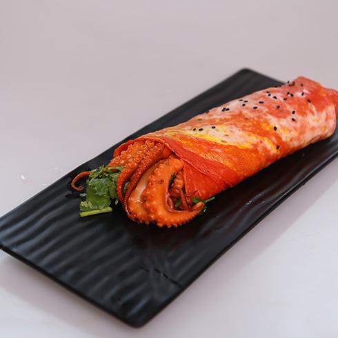 煎螯小龙虾煎饼-海派八爪鱼煎饼