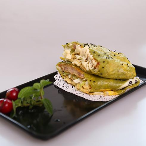 煎螯小龙虾煎饼-香脆鸡排煎饼