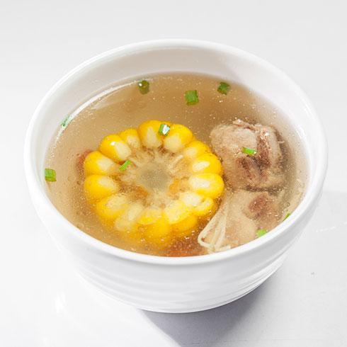 山村米姑娘炒饭-排骨玉米汤