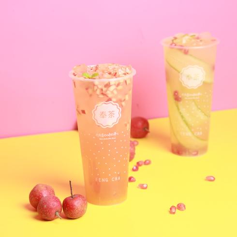 奉茶饮品-果粒多冰茶