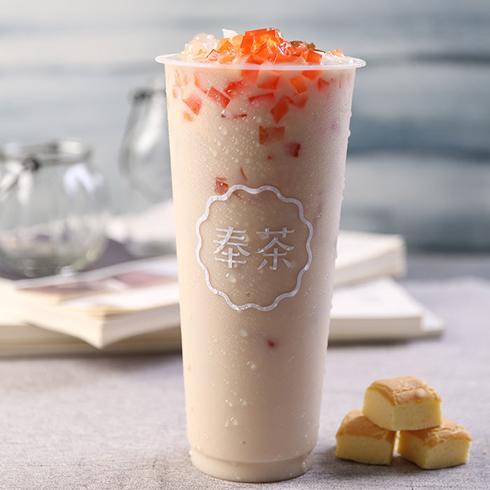 奉茶饮品-果肉奶茶