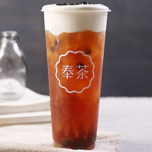 奉茶饮品-黑糖珍珠奶盖茶