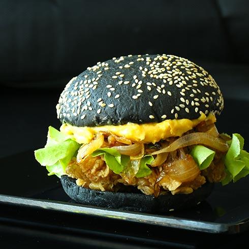 叮当鸡排-秘制黑汉堡