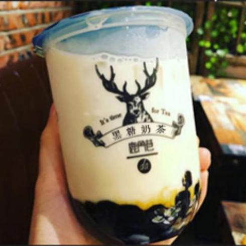 黑糖鹿角巷奶茶-黑糖珍珠奶茶