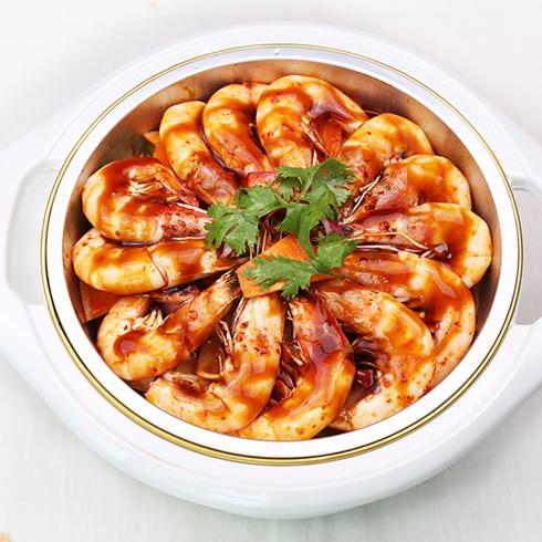 黄上煌三汁小焖锅-焖鲜虾