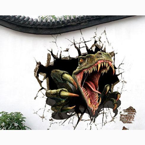 品邦3D壁画机-恐龙出没3D壁画