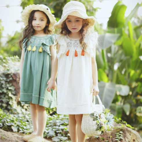 魔法童话童装-甜美民族风连衣裙
