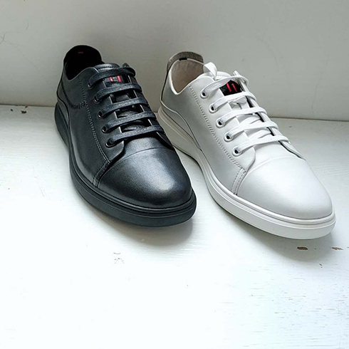 Creekree时尚男女鞋-皮质平底系带休闲鞋