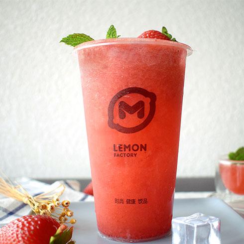 柠檬工坊港式奶茶饮品-草莓果果