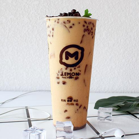 柠檬工坊港式奶茶饮品-红豆奶茶