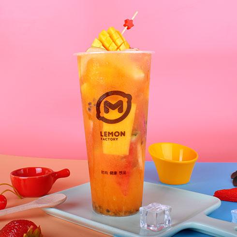 柠檬工坊港式奶茶饮品-热带水果茶