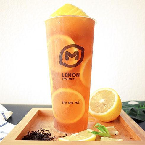 柠檬工坊港式奶茶饮品-一颗柠檬红