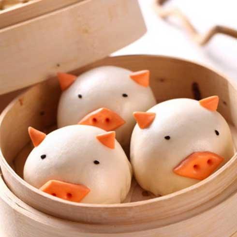 满朝佰家养生粥铺-小猪豆沙包