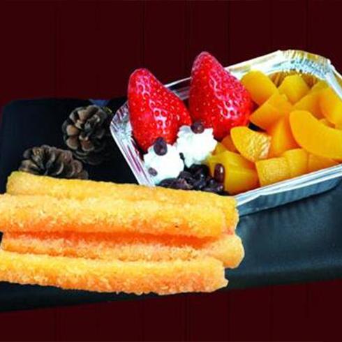 泉城烤薯特色小吃-薯条水果盒