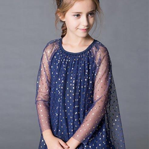 顽皮维尼童装-印花长袖连衣裙