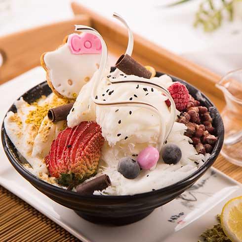 浪漫雪冰淇淋-可爱猫冰淇淋