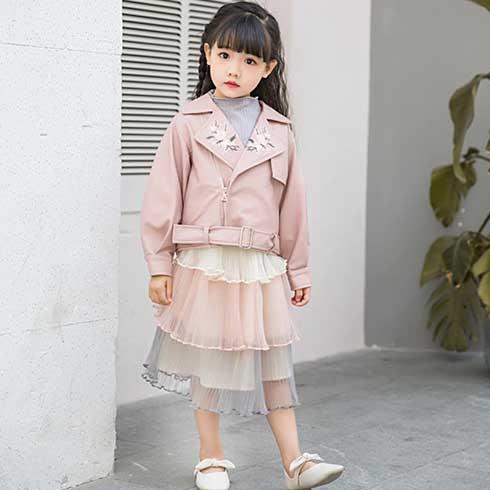 巴布兔韩派童装-皮夹克短外套
