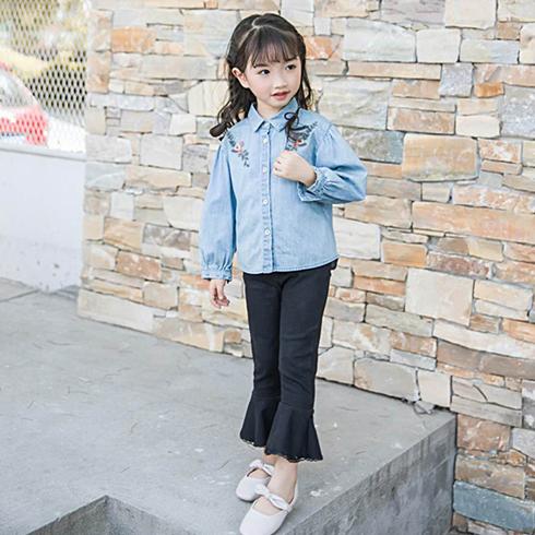 巴布兔韩派童装-韩版刺绣衬衣