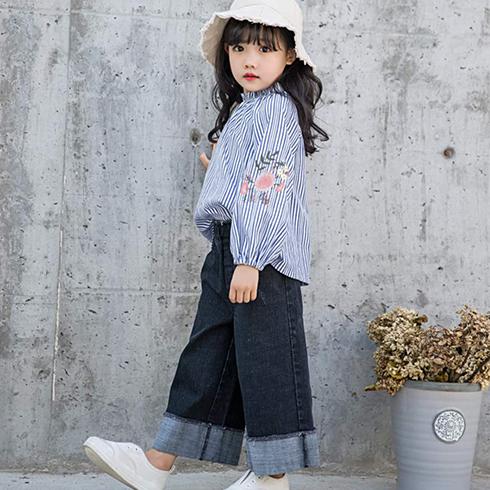 巴布兔韩派童装-木耳领条纹衬衣