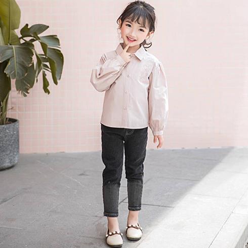 巴布兔韩派童装-灯笼袖衬衣