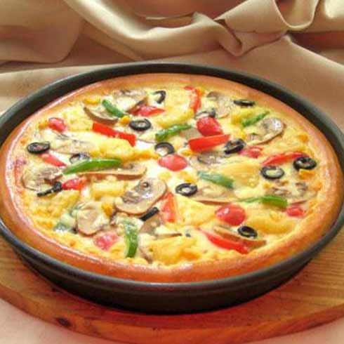粮团团熊掌包-蘑菇蔬菜披萨