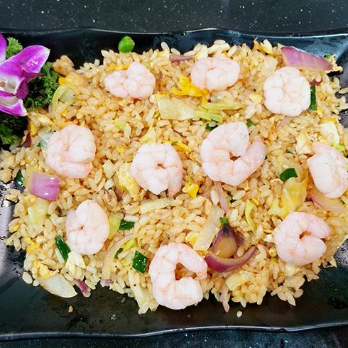 龙门铁板海鲜炒饭-虾仁炒饭