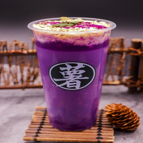 泉城烤薯特色小吃-紫薯米浆