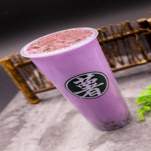 泉城烤薯特色小吃-紫薯牛乳茶