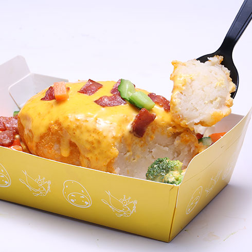 京百味快餐-五香牛肉起司土豆泥