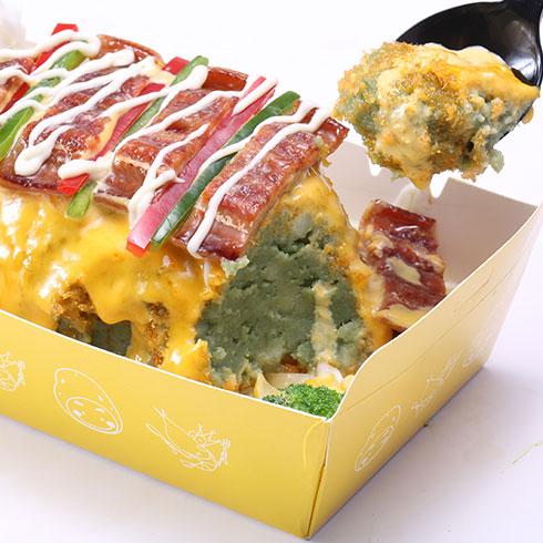 京百味快餐-秘制鳗鱼起司土豆