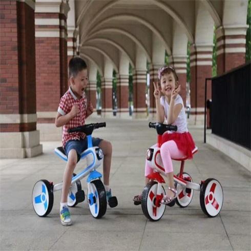 淘气神童益智生活馆-两轮变三轮童车
