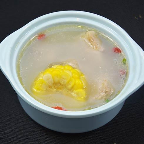 青馋口小份烤鱼-排骨玉米汤