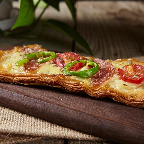 拾佳客披萨-萨拉米掌上酥肉