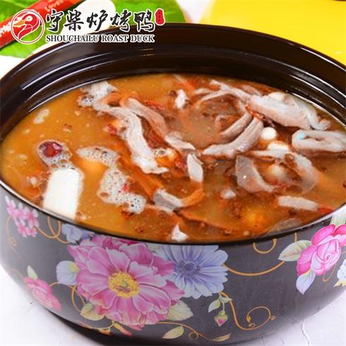 守柴炉烤鸭-猪肠养生酸汤底