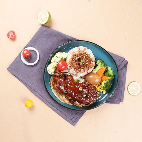 嘉吉基铁板鸡扒饭-酱香猪蹄饭