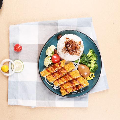 嘉吉基铁板鸡扒饭-炸鸡排饭