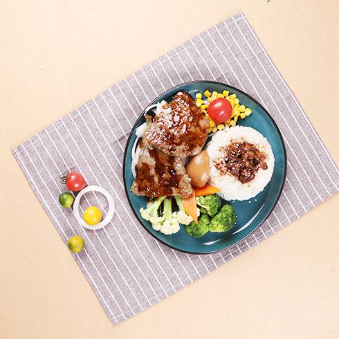 嘉吉基铁板鸡扒饭-铁板黑椒牛扒饭