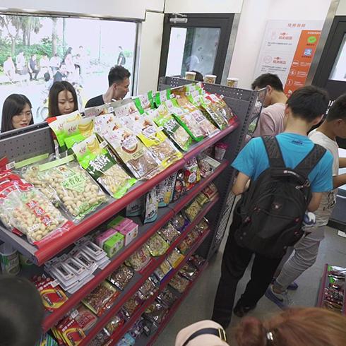 苏猫无人超市-无人超市零食区