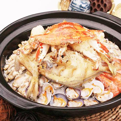 焖掌柜焖锅-蟹肉花甲煲
