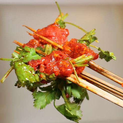 耍哥串串香-香菜牛肉