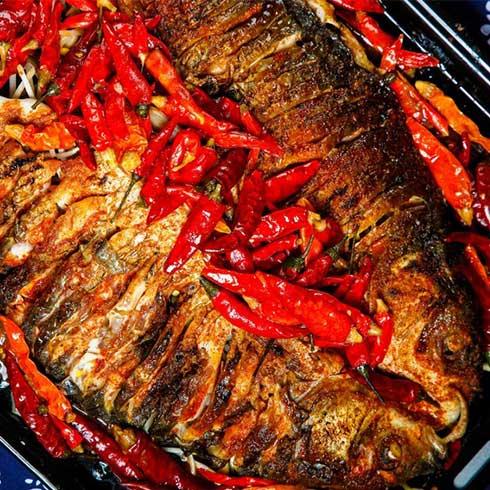 巫山烤鱼-香辣烤鱼
