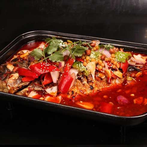 巫山烤鱼-麻辣味烤鱼