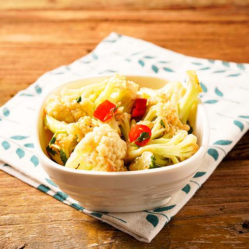 吉东家炝锅卤肉饭-炝香花菜